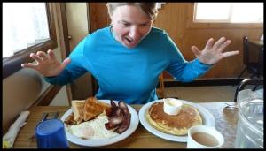 On partagera le pancake, faut pas déconner