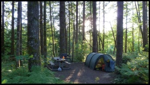 seuls dans le camping