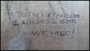 """un message laissé par nos amis australiens. On leur avait appris à dire """"ouais mec !"""""""