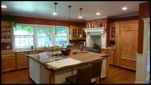 la cuisine, aussi grande que notre 1er appartement