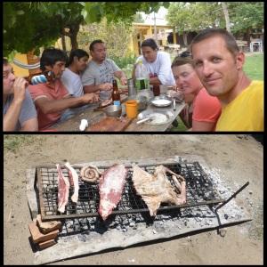 avec nos amis d'un jour autour d'un asado