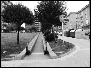 Escalator en ville... Sympa pour les vieux. Beaucoup moins pour les futurs obèses
