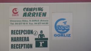 le camping de Gorliz. Beaucoup d'Allemands